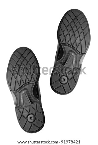 soles of shoes - stock photo