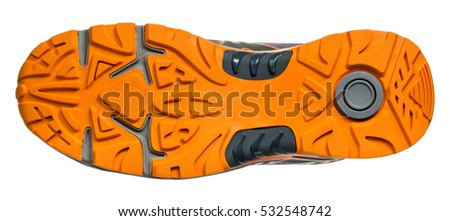 Soles of sports shoes