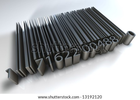 Solid Barcode flat - stock photo