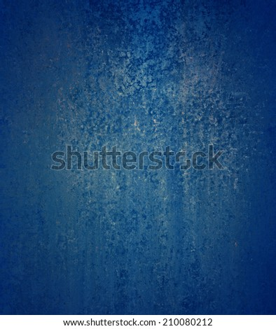 solid blue background paper with vintage grunge background texture design, elegant grungy blue backdrop - stock photo
