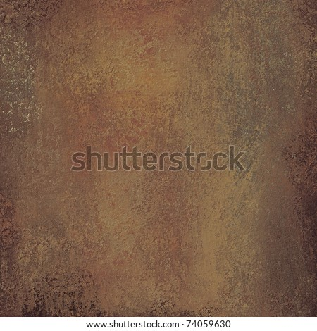 solid brown background or paper with warm earth tone grunge texture, darkened edges, and copy space - stock photo