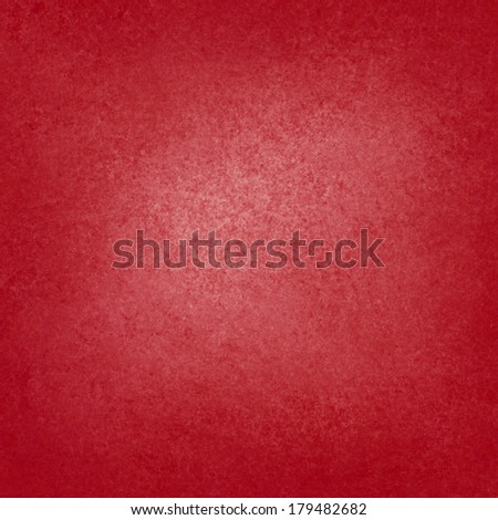 solid red background with light center and darker border, faint detailed sponged vintage grunge background texture design, beautiful red Christmas color background, display or presentation background - stock photo