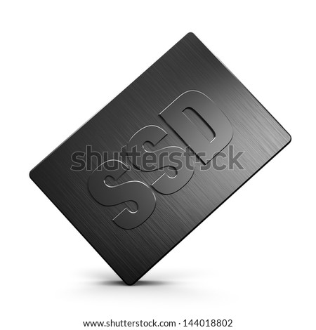 Solid state drive (SSD) - stock photo