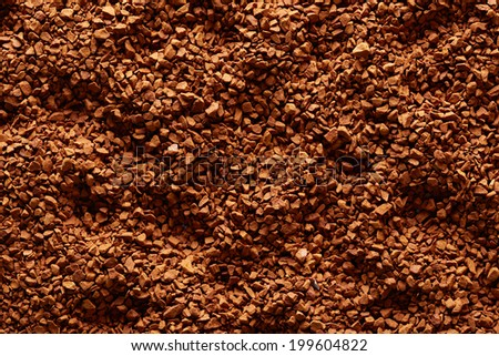 Soluble coffee background