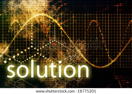 Solution Abstract Business Concept Wallpaper Presentation Background
