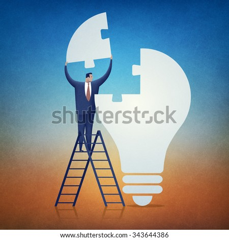 Solution. Concept business illustration. - stock photo