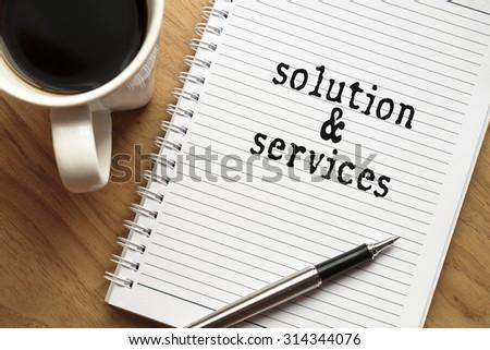 Solution & Services conceptual  - stock photo