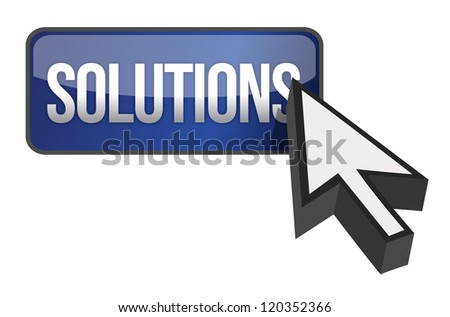 solutions button illustration design over a white background - stock photo