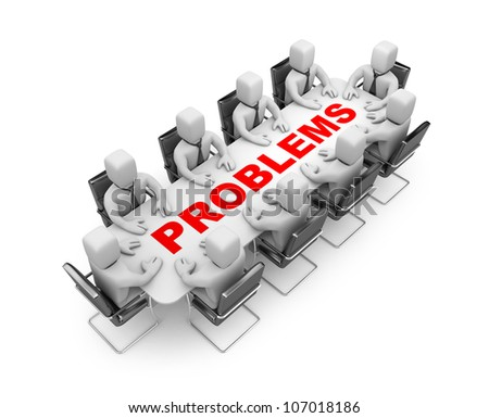 Solve the problem - stock photo