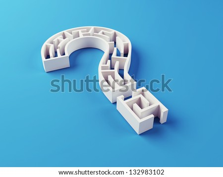 Solved Maze puzzle - stock photo