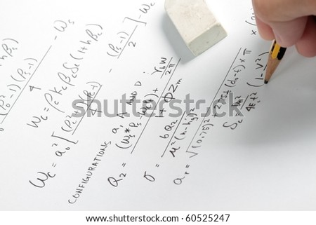 Solving equation from the asme code formula - stock photo