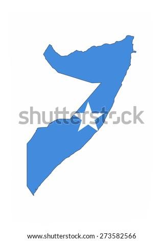 somalia country flag map shape national symbol - stock photo