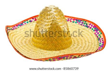Sombrero isolated on white background - stock photo