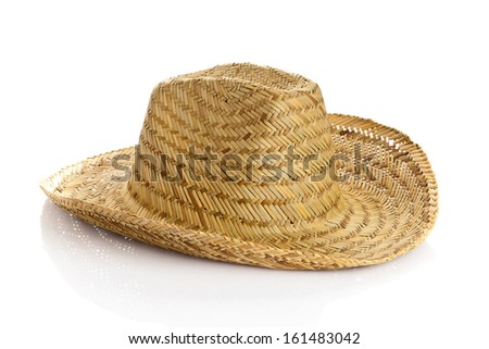 Sombrero isolated on white background. straw hat