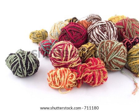 Some balls of yarn - stock photo