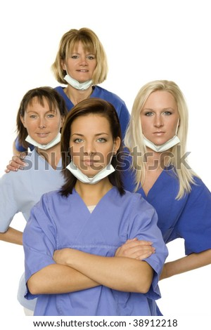 Some beautiful doctors - stock photo