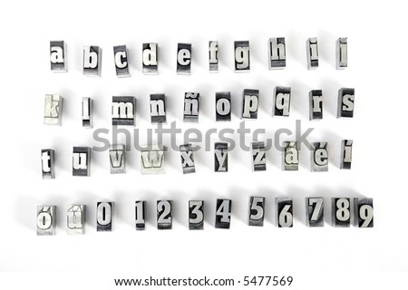 Some block letters forming the alphabet - stock photo