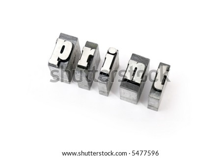 Some block letters forming words - stock photo