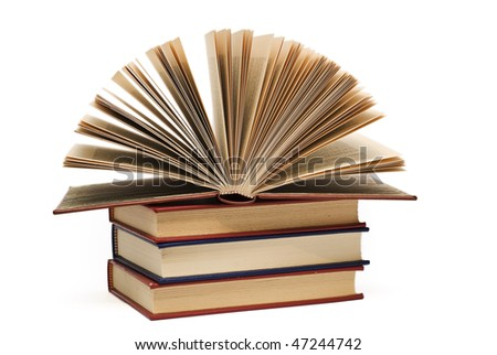 Some books isolated on white.