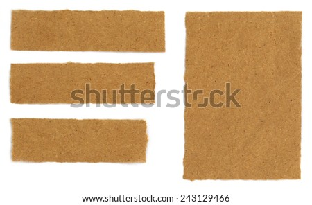 Some Brown papers over white background - stock photo