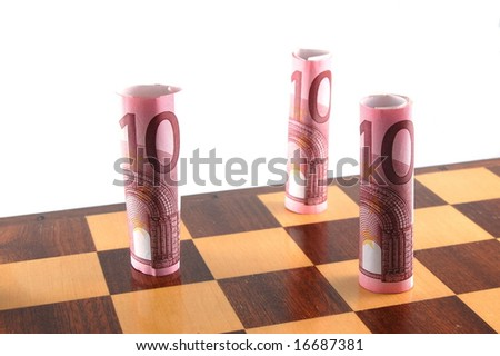 Some chessman isolated on a white background. - stock photo