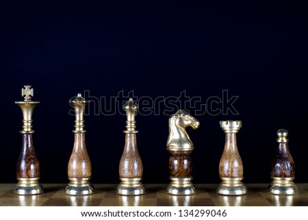 Some Chessmen on the Chessboard