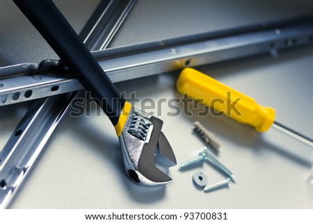 some common DIY tools/equipment shot with shallow depth of field