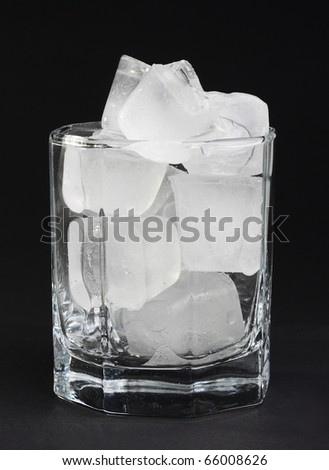 Some cubes of ice inside a glass