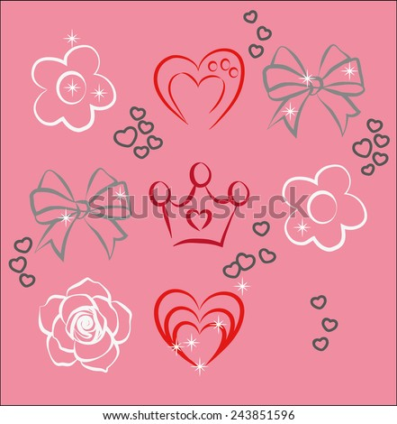 Some elements for Your design.  illustration. Raster version of a vector - stock photo