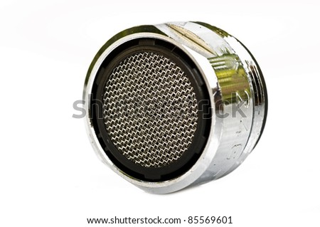 Some Faucet Aerators On A White Background