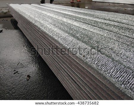 Some focus of roof insulation attached under metal sheet. Foil insulation attached reduce hot weather.