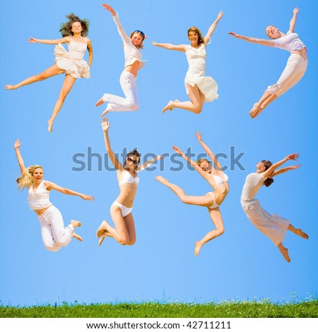 Some jump much higher! - stock photo