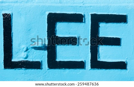 Some letter spelling lee - stock photo