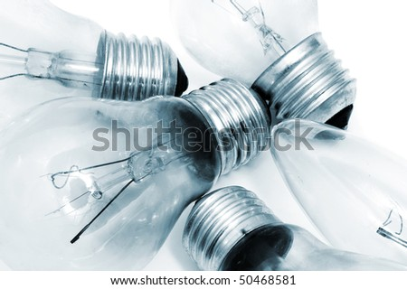 some light bulbs isolated on a white background - stock photo