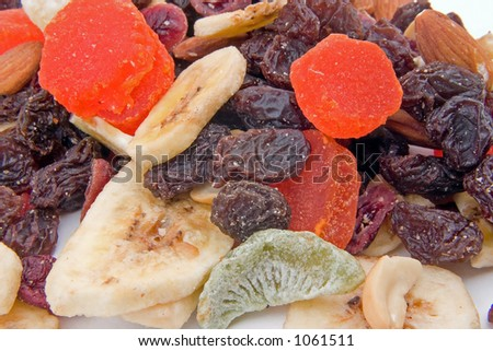 Some mixed dried fruit - stock photo