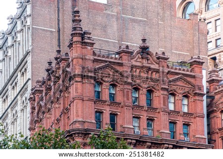 Some of the very iconic architectural marvels of Manhattan island, New York - stock photo