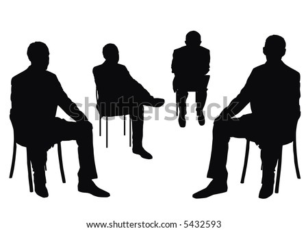 some people on the chair on the white background