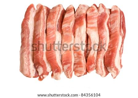 some pieces of Fresh pork  meat - stock photo