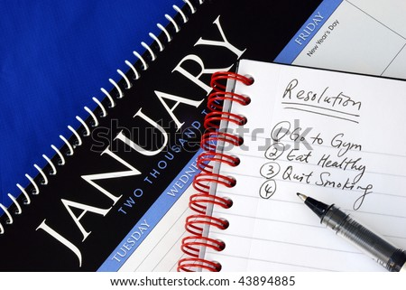 Some proposed resolutions for the New Year - stock photo