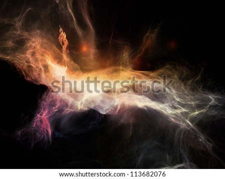 Some see angels, some see demons, some see nebulae - stock photo