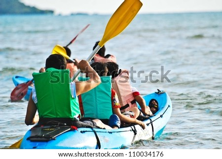 Some Thai beaches, such as Pattaya and Hua Hin are several hours drive from Bangkok and offer distinctly unique attractions. Pattaya is livelier, featuring an exciting nightlife. - stock photo