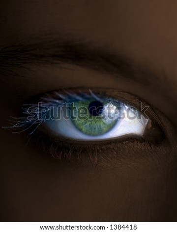Someone is looking at you?! - stock photo