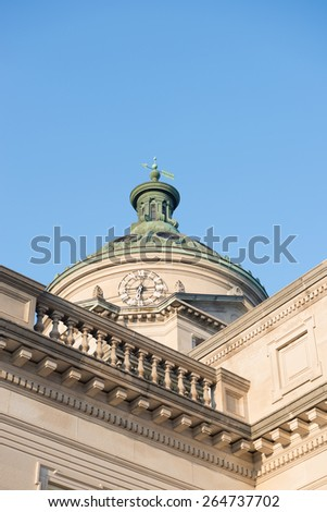 Somerset County Courthouse Pennsylvania Blue Sky - stock photo