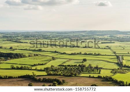 Somerset Farmland - stock photo