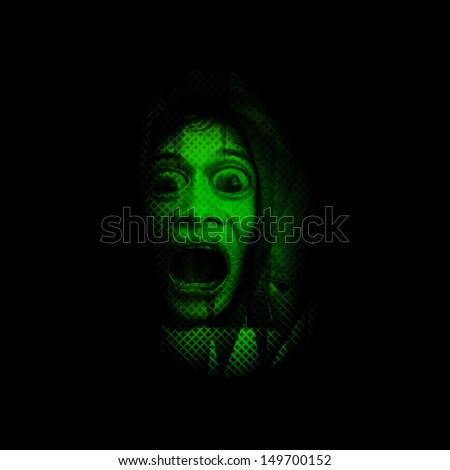 Something In The Dark,Concept For Halloween  - stock photo