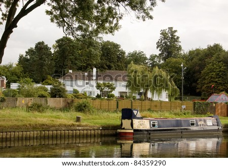 SONNING, BERKSHIRE, ENGLAND -  JULY 15: Celebrity home of the psychic and television presenter Uri Geller on July 15, 2011 in Sonning, Berkshire, UK.  The celebrity claims to have mind bending powers.