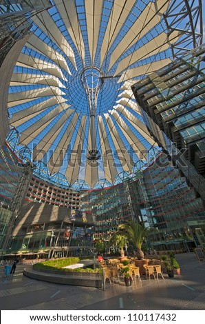 Sony Center, Berlin Germany - stock photo