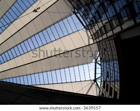 Sony Center in Berlin, Germany - stock photo
