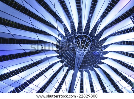 sony centre, berlin, germany - stock photo
