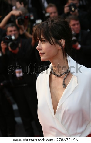 Sophie Marceau attends the 'Mad Max : Fury Road' Premiere during the 68th annual Cannes Film Festival on May 14, 2015 in Cannes, France. - stock photo
